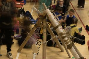 Pupils at Banff Academy create their own musical instruments from scrap.